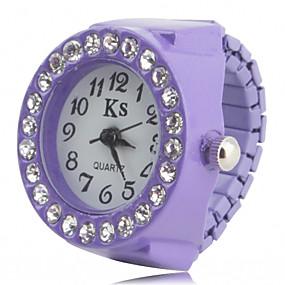 billige Klokkeringer-Dame Ringur Armbåndsur Diamond Watch Japansk Quartz Svart / Hvit / Rosa Imitasjon Diamant damer Glitrende Mote - Svart Lilla Rosa Ett år Batteri Levetid / SSUO SR626SW