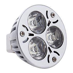 olcso EU Raktár-3 W LED szpotlámpák 260-300 lm GU5.3(MR16) MR16 3 LED gyöngyök Nagyteljesítményű LED Természetes fehér 12 V