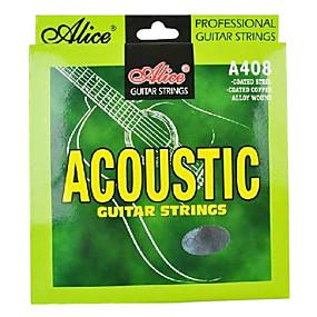 olcso Hangszerek és tartozékok-Alice - (A408-l) acél akusztikus gitár húrok (012-053)
