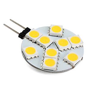 olcso LED & Világítás-1 W LED betűzős izzók 250-300 lm G4 9 LED gyöngyök SMD 5050 Meleg fehér 12 V