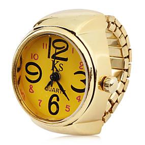 billige Klokkeringer-Dame Ringur gullklokke Japansk Quartz Gylden Hverdagsklokke Analog damer Sjarm Mote Ett år Batteri Levetid / SSUO LR626