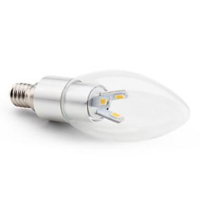 olcso LED & Világítás-3 W LED gyertyaizzók 2800 lm E14 C35 6 LED gyöngyök SMD 5630 Dekoratív Meleg fehér 220-240 V