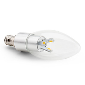 ieftine Becuri LED Lumânare-3 W Becuri LED Lumânare 2800 lm E14 C35 6 LED-uri de margele SMD 5630 Decorativ Alb Cald 220-240 V