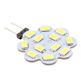 رخيصةأون مصابيح ليد ثنائية-1.5 W أضواء LED Bi Pin 6000 lm G4 12 الخرز LED SMD 5630 أبيض طبيعي 12 V / #