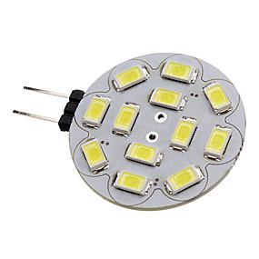 ieftine Spoturi LED-1.5 W Spoturi LED 150-200 lm G4 12 LED-uri de margele SMD 5730 Alb Natural 12 V / #
