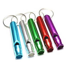 olcso Kempingezés & hátizsákos utazás-Survival Whistle Túlélés Síp Alumínium ötvözet Túrázás Véletlenszerűen kiválasztott szín