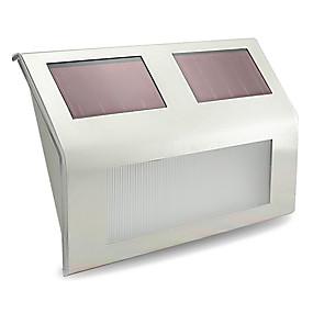 olcso LED & Világítás-1db Fali világítás kert fények LED gyöngyök Nagyteljesítményű LED Újratölthető Dekoratív Hideg fehér
