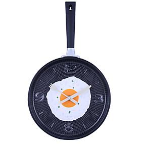 "cheap Home Supplies-14.2""H Omelets Pan Style Analog Wall Clock (Random Color, 1xAA)"