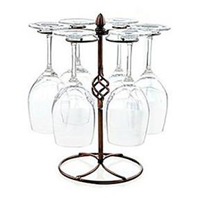Χαμηλού Κόστους Κουζίνα και τραπεζαρία-Gold Rotating ποτήρι κρασί Κύπελλο Holder Rack Upside