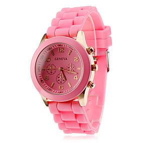 ieftine Cuarț ceasuri-Pentru femei femei Ceas de Mână Quartz Prăjit Ceas Casual Analog Alb Negru Mov / Silicon / Un an / Un an / ETA 377A