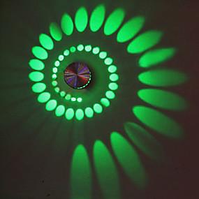 رخيصةأون الحديقة والمنزل-الحديثة / المعاصرة إضاءات معلقة معدن إضاءة الحائط 90-240V 3W