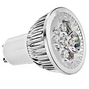 olcso LED & Világítás-brelong 1 pc 4w gu10 fényerõs fénycsésze ac85-265v fehér meleg, fehér, természetes fény