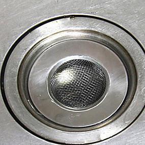 olcso Tisztítóeszközök-3,5 cm-es rozsdamentes mosogató szemét szűrő konyhai mosogató szemét szűrő leeresztő dugó
