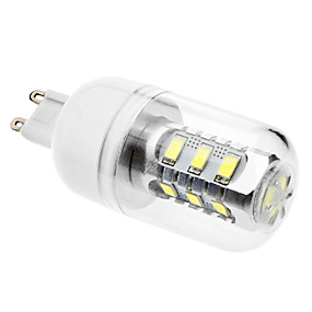 olcso Daiwl-LED kukorica izzók 6500 lm G9 15 LED gyöngyök SMD 5630 Természetes fehér 220-240 V 110-130 V / #