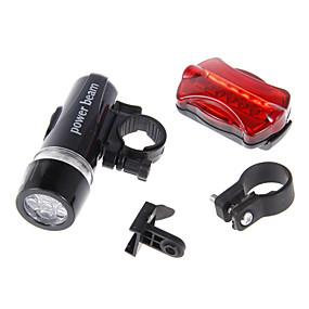 olcso Elemlámpa készlet-LED Kerékpár világítás LED zseblámpák Kerékpár első lámpa Kerékpár hátsó lámpa Hegyi biciklizés Kerékpár Kerékpározás Vízálló Biztonság Hordozható Riasztás - Ébresztős AAA 100 lm Kempingezés / IPX-4