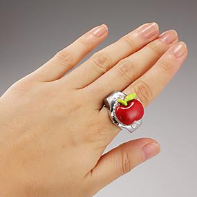 billige Klokkeringer-Dame Ringur Japansk Quartz Sølv Hverdagsklokke damer Sjarm - Rød Grønn Blå