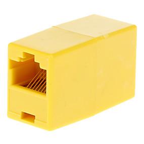 olcso $0.99-RJ45 aljzat Nő Adapter Yellow