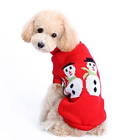 olcso Pet karácsonyi jelmezek-Kutya Pulóverek Tél Kutyaruházat Jelmez Gyapjú Egyszínű Melegen tartani Karácsony XS S M L XL