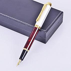 tanie Zaproszenia i akcesoria biurowe-spersonalizowane stylu obiekt ofiara premii metalowe grawerowane pióro brązowy tusz