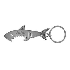 Недорогие Брелки-персонализированные выгравированы подарок творческой акула форме брелка