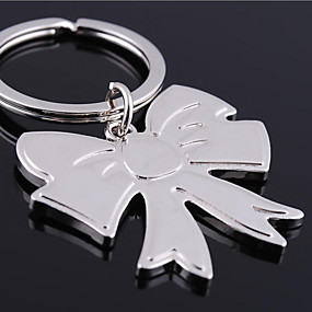 olcso Egyedi minták és ajándékok-Személyre szabott gravírozott ajándéktárgyak Bowknot alakú kulcstartó