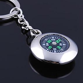 olcso Egyedi minták és ajándékok-Személyre szabott gravírozott ajándéktárgyak Round Compass alakú kulcstartó
