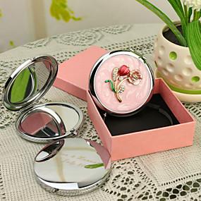 olcso Újdonságok-Személyre szabott termékek-, Személyre szabott ajándékot Blossom Stílus Pink Chrome kompakt tükör