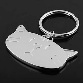 povoljno Personalizirani printevi i darovi-Personalizirani graviranog Poklon Mačka voditelj Shaped privjesak