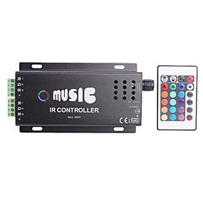 olcso LED szalagfény tartozékok-Közös anód IR Két Strip 24key RGB Music Controller RGB LED szalag a távirányító (DC12-24V)