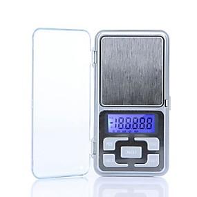 povoljno Digitalne vage-Visoka točnost Mini Electronic Digital Pocket Scale Nakit vaganje Prijenosni 200g/0.01g