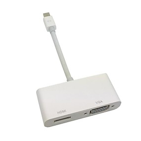 Недорогие DisplayPort-Mini DisplayPort молнии для VGA& HDMI кабель адаптера 2 in1 для Apple MacBook& воздуха& про& IMAC