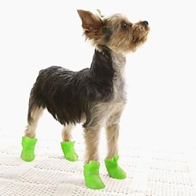 voordelige Honden Sieraden & Accessoires-Honden Hondenlaarzen / Hondenschoenen Regenlaarzen waterdicht Solide Kleuren leuke Style Voor huisdieren Siliconen Kumi PVC Zwart