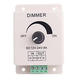 ieftine Întrerupătoare & Prize-Led Knob-control operat Dimmer Luminozitate reglabila controler pentru LED-uri de lumină (DC12-24V 8A)