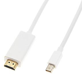 voordelige DisplayPort-1.2M Mini Display Port DP Thunderbolt-HDMI-kabel Adapter voor Macbook Air Pro
