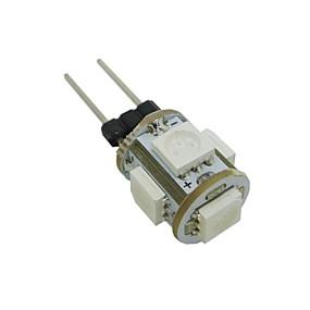 رخيصةأون أضواء LED ذرة-0.5 W أضواء LED ذرة 35-45 lm G4 T 5 الخرز LED مصلحة الارصاد الجوية 5050 أبيض دافئ أبيض كول أزرق 12 V / بنفايات