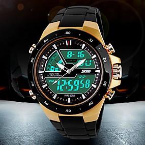 Недорогие Фирменные часы-SKMEI Муж. Спортивные часы Наручные часы электронные часы Кварцевый Цифровой Японский кварц Мода Защита от влаги Черный Аналого-цифровые - Белый Черный Красный Два года Срок службы батареи / ЖК экран