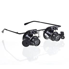 olcso Szabadidő hobbi-Szemüveg Type 20x nagyító fehér LED-es (4xCR1620)