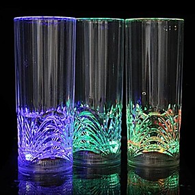 זול נורות לילה לד-1pc בגדי שתיה LED / LED לילה אור סוללה עמיד במים