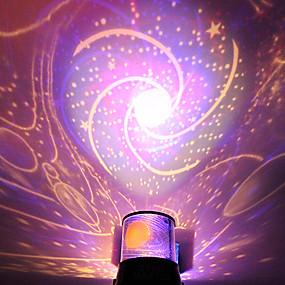 رخيصةأون مصابيح ليد مبتكرة-دي رومانسية غالاكسي السماء المرصعة ضوء الليل العارض للاحتفال حزب