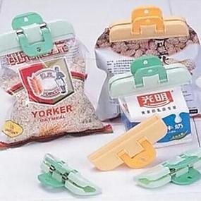 hesapli Saklama ve Organizasyon-2 adet plastik güçlü gıda torbası klip taze aperatif yiyecek saklama çantası mühürleyen