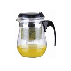 olcso Otthon & iroda kütyük-Easy Push Button szűrő Üveg Tea Pot With Lock (500 ml)