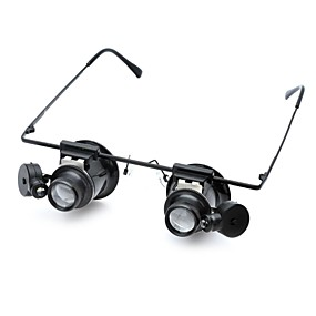 olcso Szabadidő hobbi-Mikroszkópok Nagyítók Nagyító szemüveg szakmai szint Lencse LED izzóval Klasszikus Üveg ABS Klasszikus Gyerekek Fiú Lány Játékok Ajándék