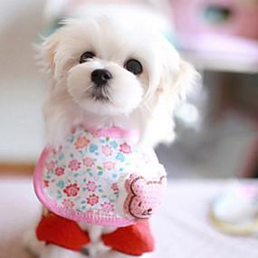 Недорогие Бижутерия и аксессуары для собак-Банданы и шляпы для Собаки Розовый Лето Косплей Хлопок