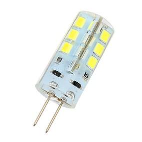 olcso Otthon & kert-3 W LED betűzős izzók 180 lm G4 24 LED gyöngyök SMD 2835 Hideg fehér 12 V / # / CE / RoHs