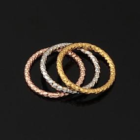 olcso Ékszerek&Karórák-Női Páros gyűrűk Band Ring Nyilatkozat gyűrű Platina bevonat Arannyal bevont Fehér arany Circle Shape Geometric Shape Esküvő Parti Ékszerek