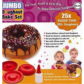 Χαμηλού Κόστους Κουζίνα και τραπεζαρία-μεγάλο γίγαντα κέικ dount maker ailicone κορυφή μούχλα 4.8x2x4.8inch σιλικόνης