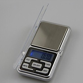 رخيصةأون المعايير والموازين-500g 0.1g مصغرة مقياس مطبخ الالكترونية المحمولة مقياس سطح المكتب