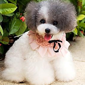Недорогие Бижутерия и аксессуары для собак-домработница стиле кружева галстук для животных собаками разные цвета