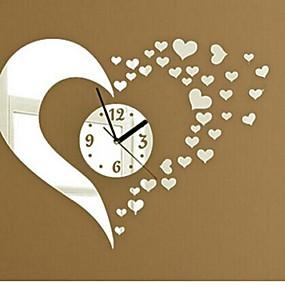 povoljno Ukrasne naljepnice-zidni sat naljepnice zidne naljepnice, modni 3d srce zrcalo akril zidne naljepnice