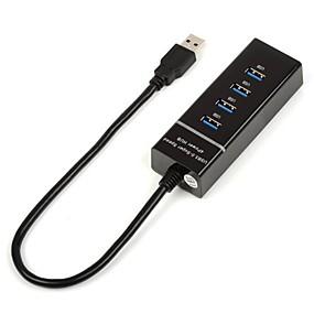 olcso Számítógépes periferiális egységek-4 USB 3.0 interfész nagysebességű hub elektromos csatlakozó számítógép külső USB hosszabbító